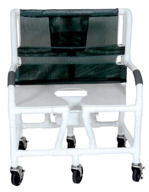 "Lumex 30"" PVC Bariatric Commode Bath Chair"