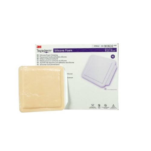 Silicone Foam Dressing Tegaderm Square Silicone Adhesive Without Border Sterile