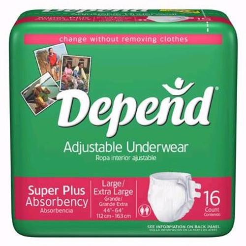 Beltless Undergarment, Depend - Super Plus Absorbency