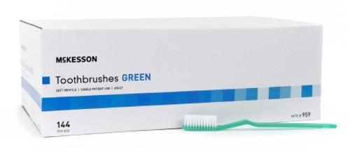 McKesson Green Adult Soft Toothbrush