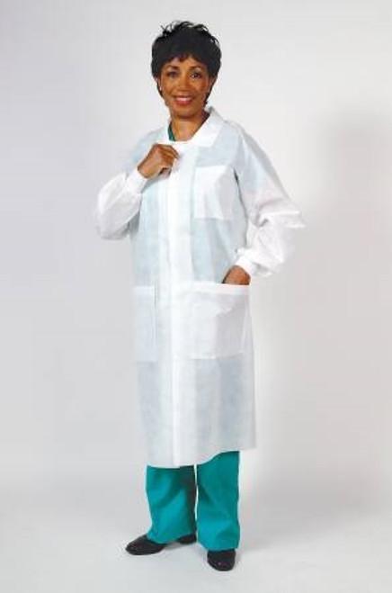 Lab Coat Long Sleeves Knee Length