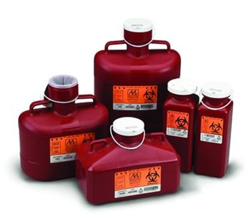 non-stackable sharps disposal container