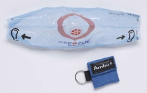 CPR Barrier Mask with Key Ring Pouch