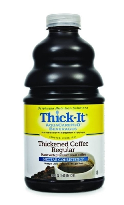 Thickened Beverage ThickIt AquaCareH2O Bottle Tea Ready to Use Nectar Consistency