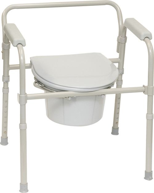 ProBasics Three-in-One Folding Commode with Full Seat