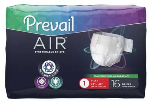 Adult Incontinent Brief Prevail Air Tab Closure Disposable Heavy Absorbency
