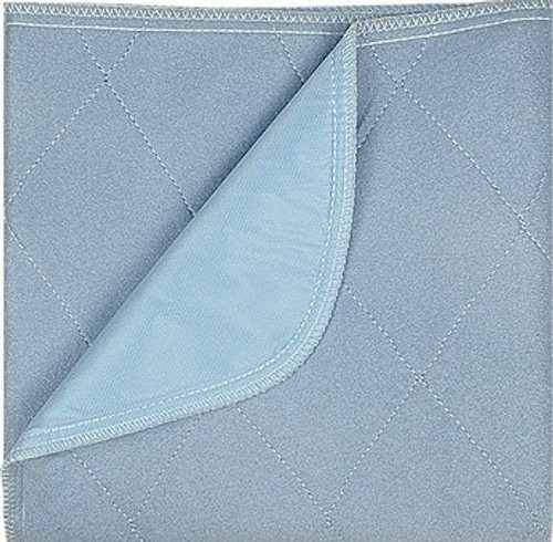 Underpad Blue Max 34 X 36 Inch Reusable Polyester / Rayon Moderate Absorbency