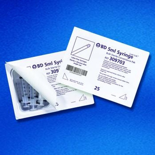 bd sterile syringe convenience trays