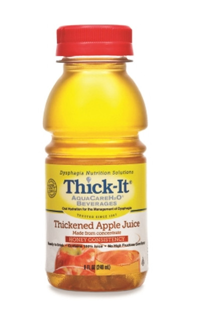 Thickened Beverage ThickIt AquaCareH2O 8 Oz. Bottle Ready to Use Honey Consistency