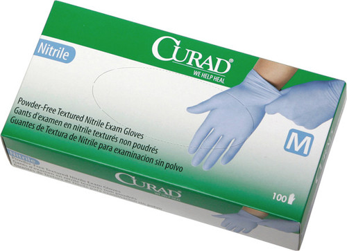 Curad PF Nitrile Exam Gloves