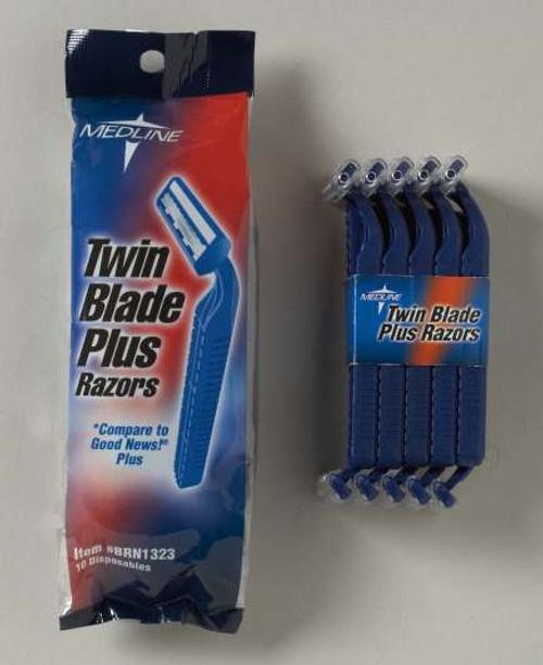 Disposable Facial Razors - Twin Blade