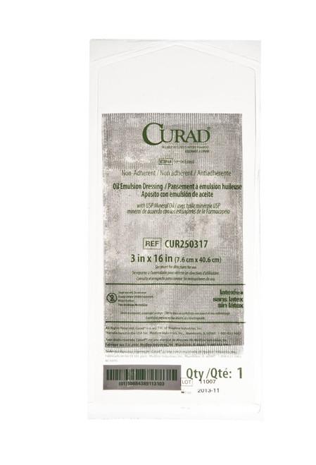 CURAD Sterile Oil Emulsion Non-Adherent Gauze