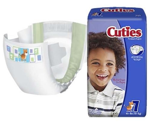 Baby Diaper Cuties Essential Tab Closure Disposable Heavy Absorbency