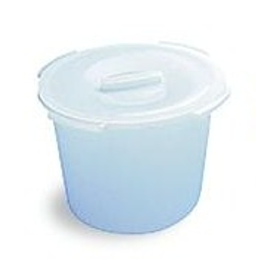 Universal Commode Pail with Handles and Cover