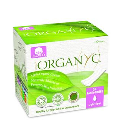 Organyc Cotton Panty Liners, Light Flow