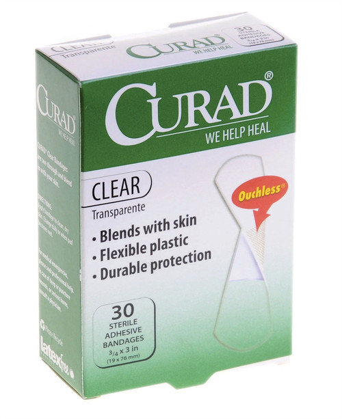 Curad Clear Adhesive Bandages, Clear