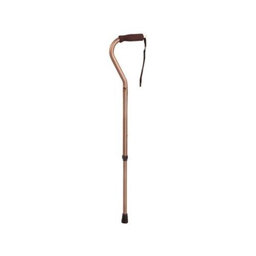 adjustable aluminum cane w/offset handle