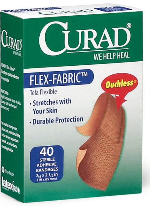 CURAD Flex-Fabric Bandages, Brown