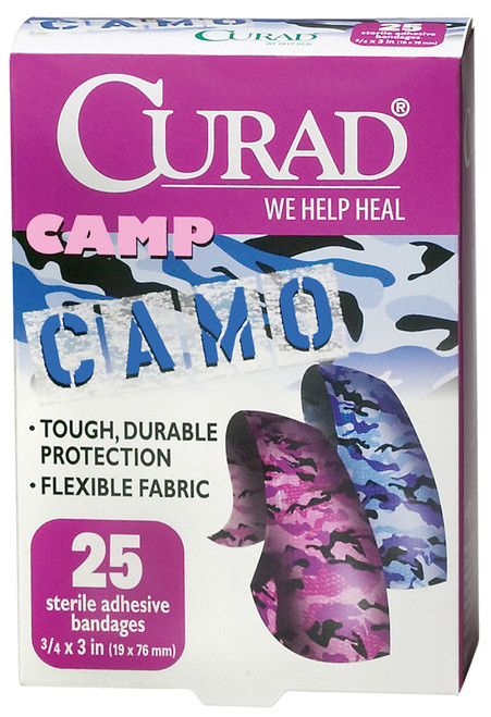 CURAD Pink & Blue Camouflage Bandages