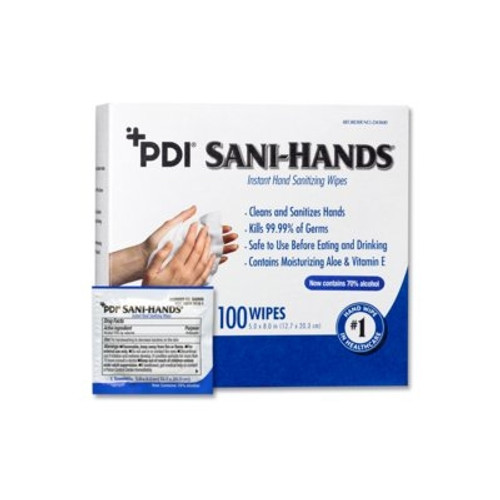 Sani-Hands Sanitizing Skin Wipe Individual Packet Ethyl Alcohol Unscented 1 Count