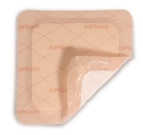 Thin Silicone Foam Dressing Advazorb Silfix Lite Silicone Adhesive without Border Sterile