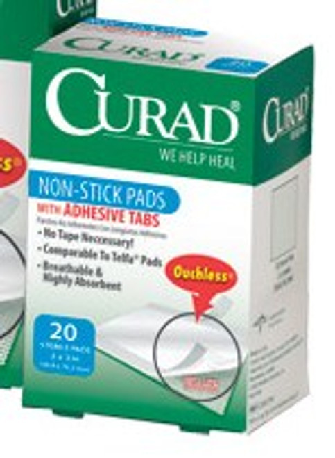 CURAD Non-Stick Pads with Tabs