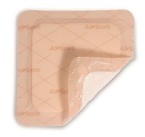 Silicone Foam Dressing Advazorb Border Lite Square Silicone Adhesive with Border Sterile