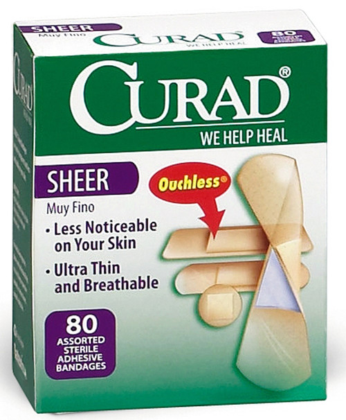 CURAD Sheer Adhesive Bandages, Sheer