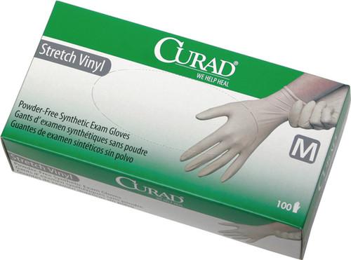 Curad PF Stretch Synthetic Vinyl Exam Gloves