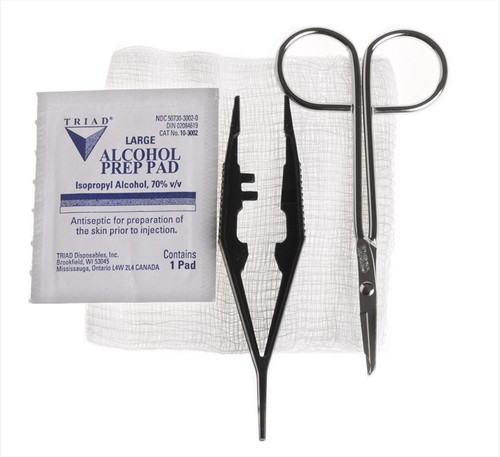 Suture Removal Trays with Littauer Scissors