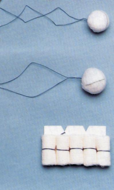 Double Strung Medium Tonsil Sponges