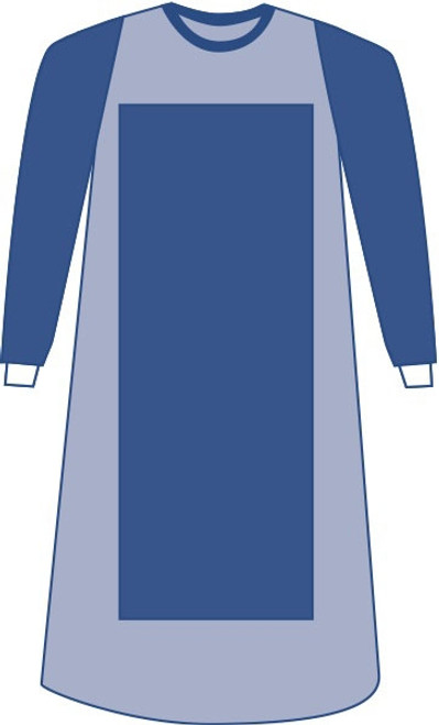 Sterile Poly-Reinforced Eclipse Gown with Breathable Impervious S, Blue