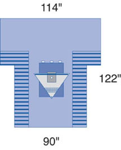 Proxima Arthroscopy T-Drape w/ Pouch