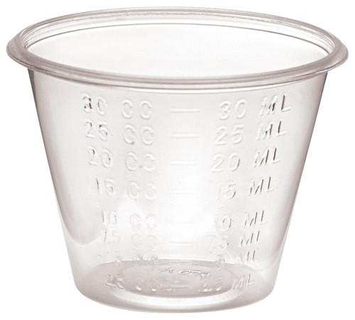 Non-Sterile Graduated Plastic Medicine Cups, 1 oz