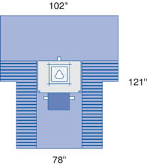 Proxima C-Section Drape w/ Pouch & Fen.