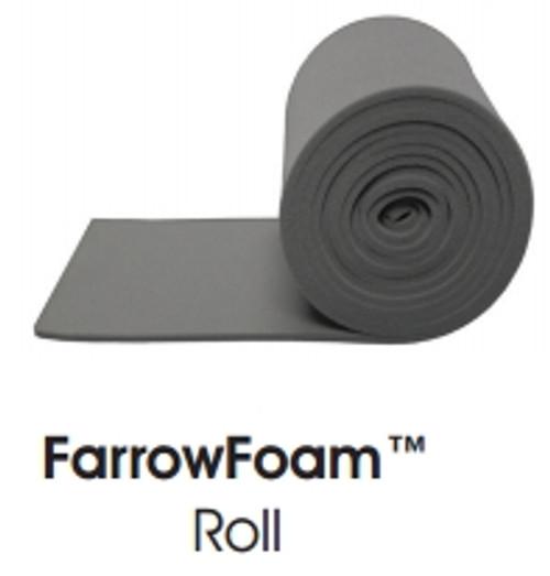 FarrowFoam Roll Gray 8mm x 10cm x 1m