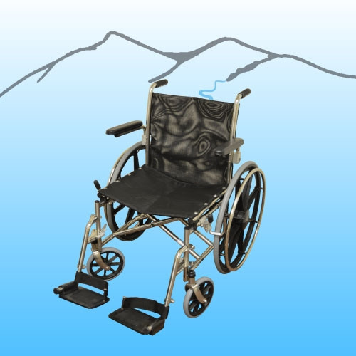 SS HD Folding Aquatic Wheelchair