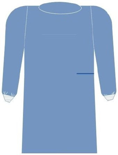 Non-Reinforced Surgical Gown with Towel SurgiSoft Unisex Sterile Blue