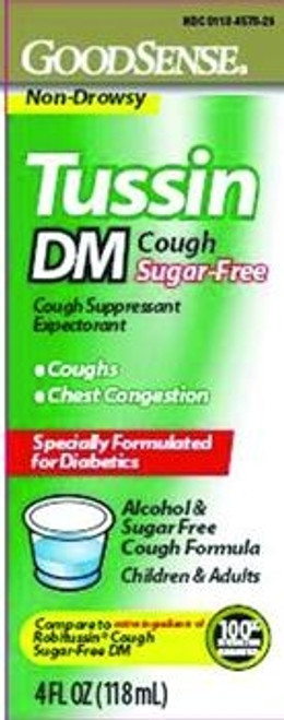 Good Sense Sugar-Free Tussin DM Cough and Chest Congestion Syrup