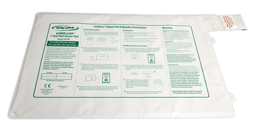 """CordLess Bed Sensor Pad 20""""x30"""" - 1 year pad life (only use with the TL-2100G, GM-01E, 433-CMU or 433-EC)"""