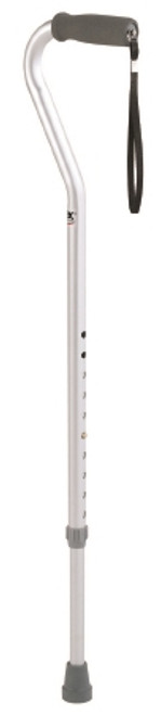 Offset Cane Aluminum 29 to 38 Inch Silver
