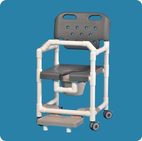 Elite Shower Chair Commode With Slideout Footrest And Lap Bar