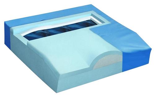 """Titanium Gel / Foam Wheelchair Cushion 16"""" x 18"""""""