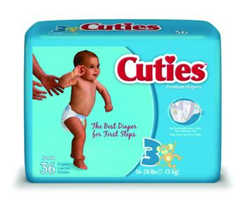 Cuties Baby Diapers - Size 3 and Size 4