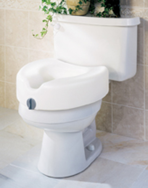 "Locking Raised 5"" Toilet Seat"