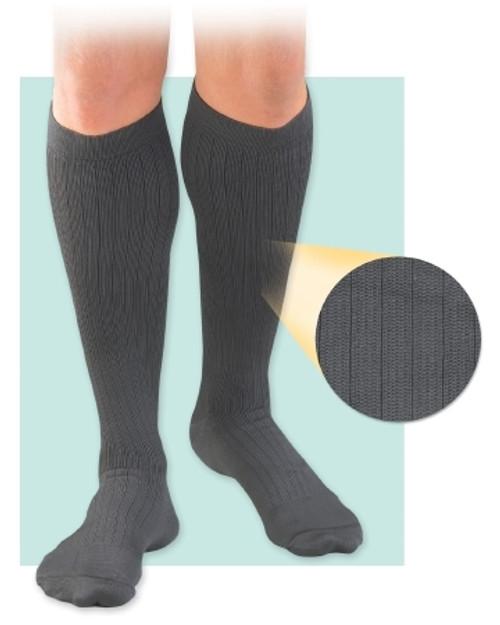 Compression Socks Activa Knee High Black Closed Toe