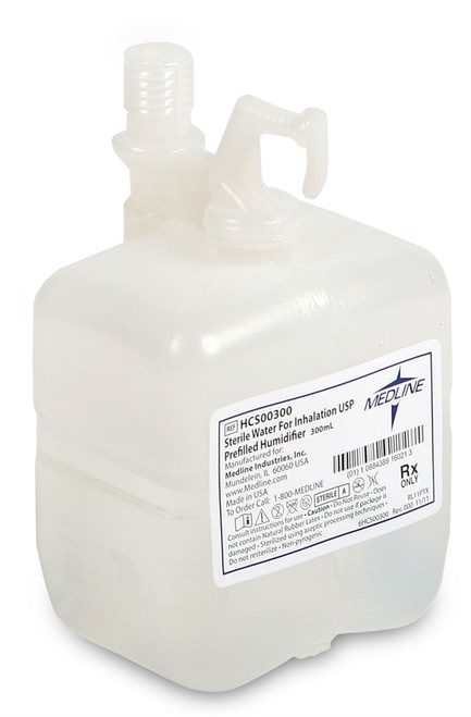 Pre-Filled Bubble Humidifiers - 300 mL