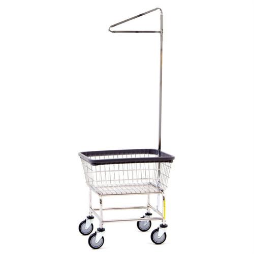 Narrow Laundry Cart w/ Single Pole Rack