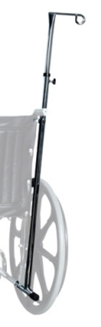 Wheelchair One-Hook I.V. Pole