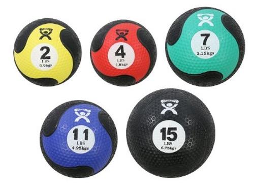 Medicine Ball Set CanDo Black Red Yellow Green Blue Firm